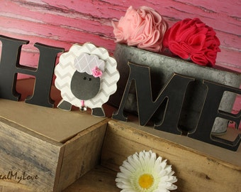 "Lamb: DIY Unfinished Spring and Easter Letter Decoration ""O"" Insert ONLY - Craft for ""H M E"", ""L V E"" or ""WELCME"" Interchangeable Letter Set"