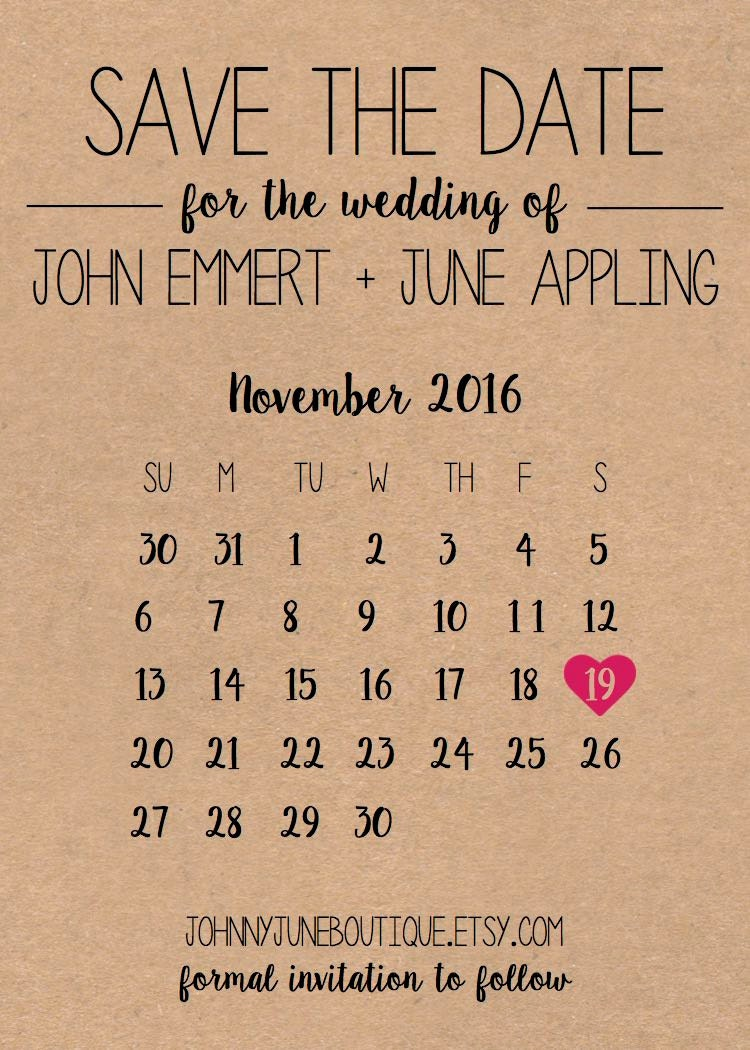 Digital save the date template by johnnyjuneboutique on etsy for Free electronic save the date templates