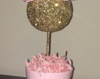 Pink and Gold Glitter Minnie Mouse inspired Centerpiece, Minnie Birthday, Minnie party decoration, Minnie baby shower