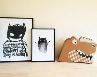 Limited Edition Little Monster Framed Print