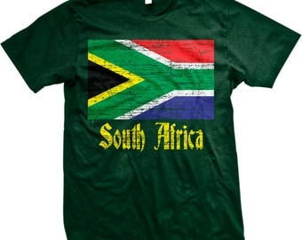 Flag of South Africa, South African Flag Men's T-shirt, NOFO_00030