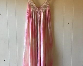 Pink, vintage, Grecian dress