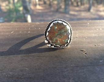 Forest Floor Turquoise Ring