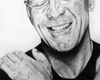Drawing original Bruce Willis