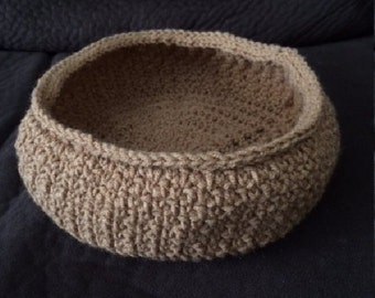 Newborn Photo Prop Crocheted Bowl
