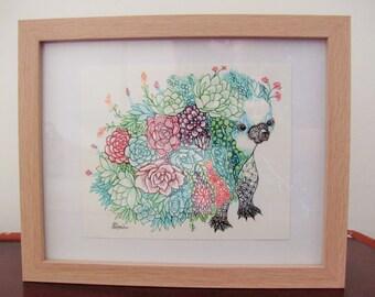 Floral Echidna Print