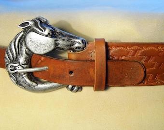 Horse leather belt