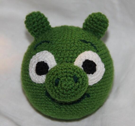 Amigurumi Green Pig : Items similar to Green Pig, Angry Birds, amigurumi ...