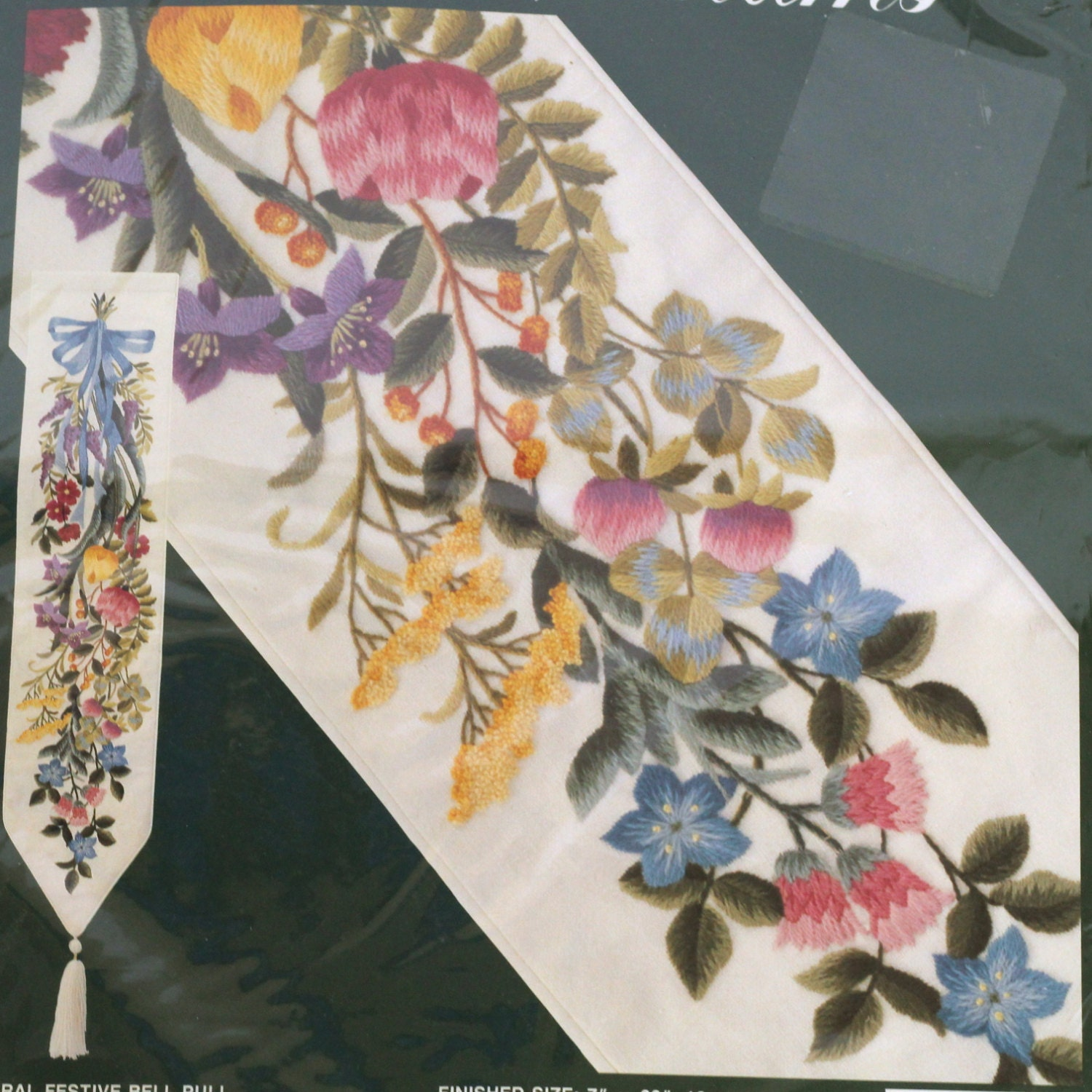 Elsa Williams Crewel Embroidery Kit FLORAL By