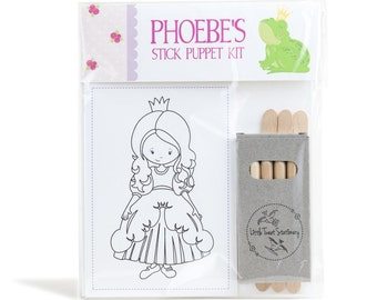 Personalised Princess Stick Puppet Kit