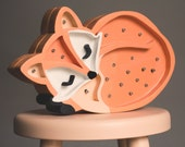 FOX wooden led lamp