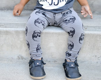 Grey Skull Leggings or Harem Pants