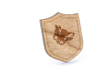 Beauceron Lapel Pin, Wooden Pin, Wooden Lapel, Gift For Him or Her, Wedding Gifts, Groomsman Gifts, and Personalized