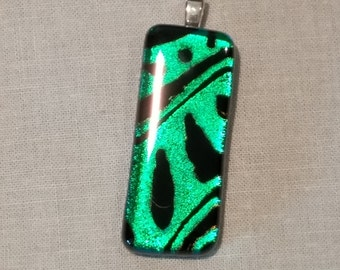 Green Pattern Dichroic Necklace