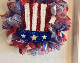 Patriotic Wreaths-4th of July Wreath-Fourth of July Wreath-Home Wreath-Memorial Day Wreath