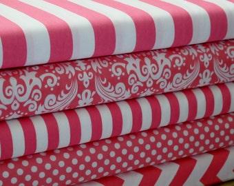 Riley Blake Hot Pink Fabric Bundle