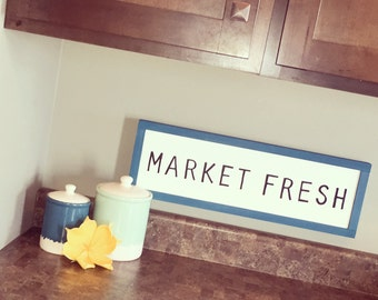 Market Fresh, Kitchen Decor, Dining Room Decor, Farmers Market Decor, Modern