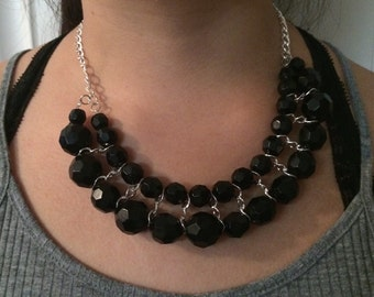 Gorgous black handmade necklace
