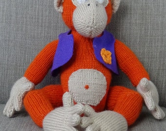 knitted toy monkey