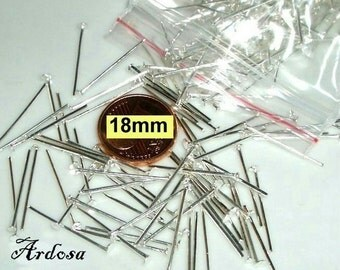 100 pins 18 mm silver bright (13.18.100)