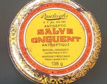 Vintage Rawleigh's Antiseptic Salve Tin