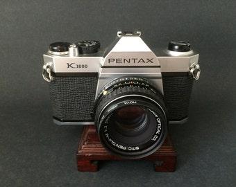 Pentax K1000 35mm Film Camera SLR with SMC Pentax-M 50mm f/2 Lens