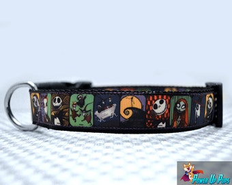 "Nightmare Before Christmas 1"" Wide Dog Collar"