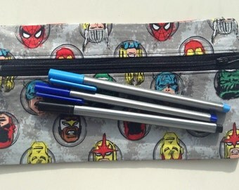 Marvel pencil case // novelty handmade item suitable for kids and adults alike