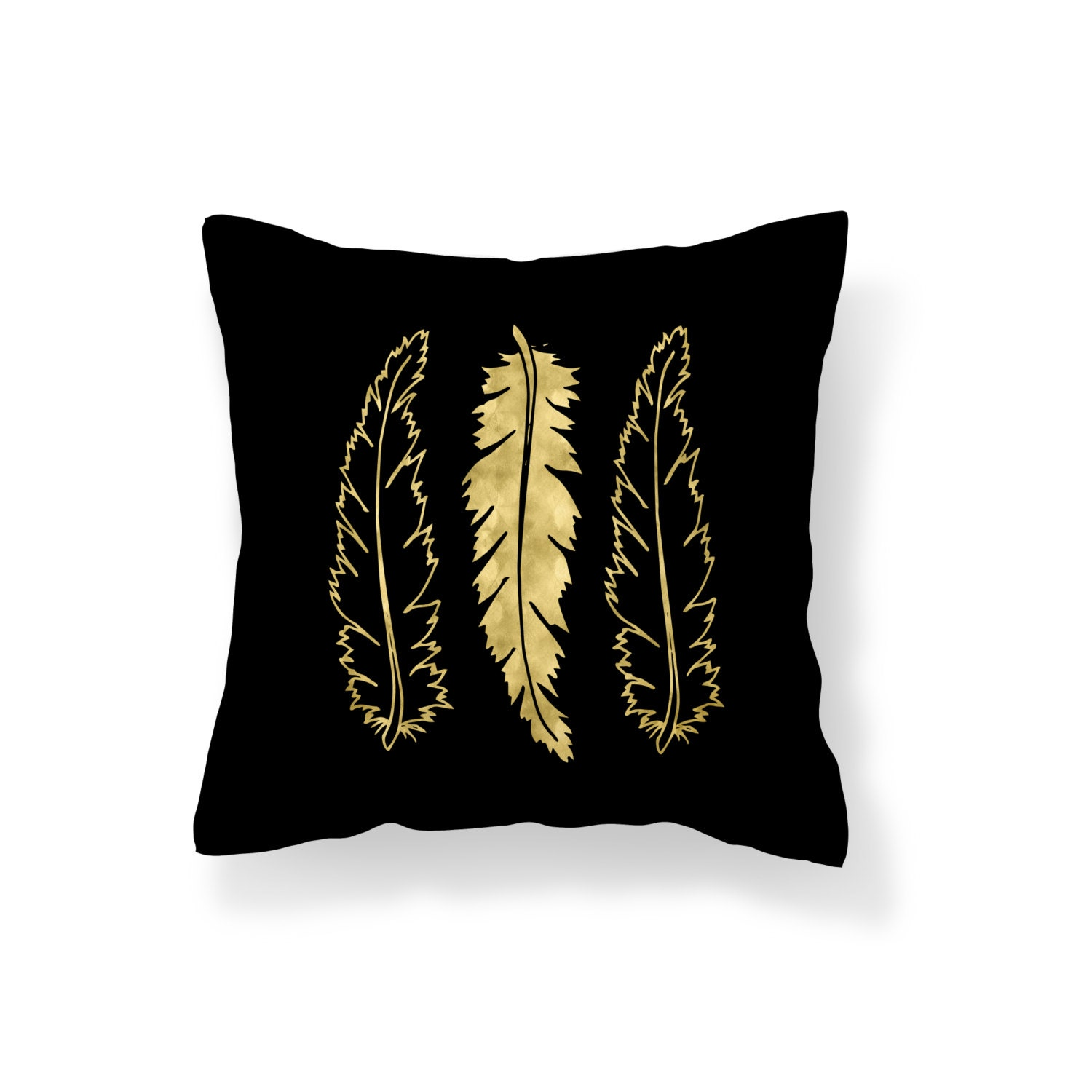 Decorative Pillows Feather : Throw Pillow Feather Decroative Pillow Feather Pillow black