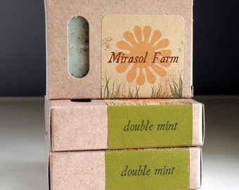 Double Mint - organic soap with essential oils and botanicals