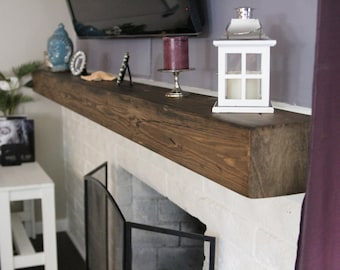 Fireplace Rustic Mantel Beam 5 1/2 height