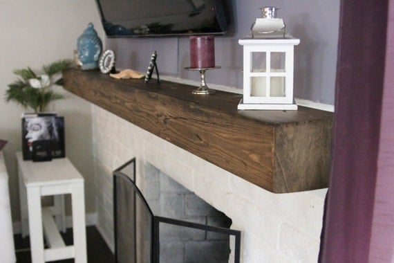 Fireplace Rustic Mantel Beam 5 1 2 height