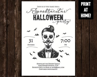 halloween invitation etsy - Homemade Halloween Party Invitations