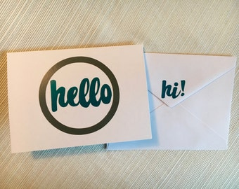 Hello Notecards / Blank inside