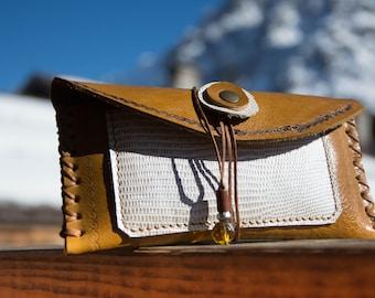 Leather case - glasses case - Alepiller design (018)