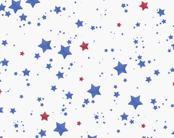 Patriotic Glitter Stars 4th of July Printed Backdrop (GLR-VS-009)