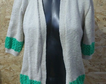 Vintage C1950s Style Had Knitted Cardigan