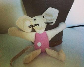 Pink Polka Dot Mouse
