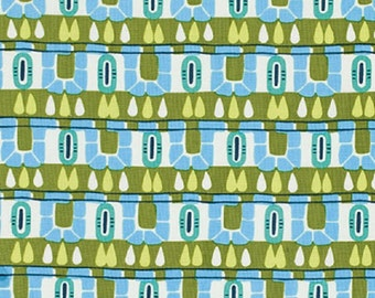 "Amy Butler   Cameo  ""Hopscotch""  Olive Cotton Fabric"