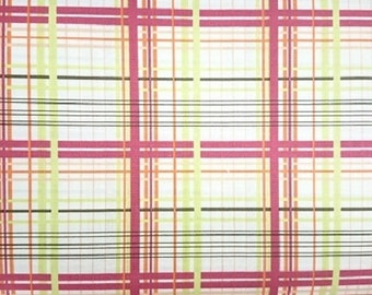 FreeSpirit  Valori Wells Bridgette Lane Plaid Cotton Fabric  Vw065 Cherry
