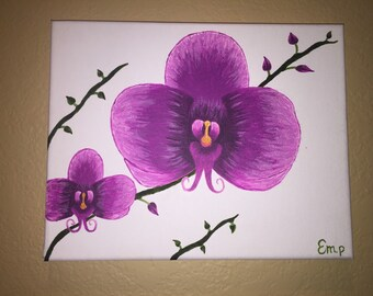 Fuchsia Orchid painting