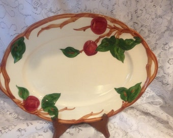 Vintage Franciscan Earthenware 1950's/60's Hand Painted Apple Pattern