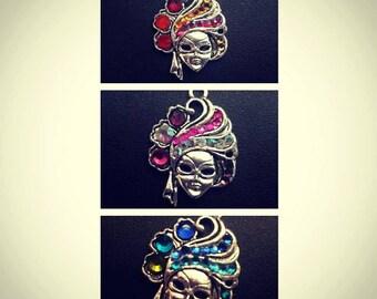 Carnival Mask necklace, Masquerade Necklace, Carnival of Venice jwelry, Venetian mask necklace, masquerade jewelry, mask jewelry, mardi gras