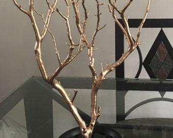 Tiny Rose Gold Manzanita Jewelry Tree/ Keepsake/ Unique Gift/ Home Decor