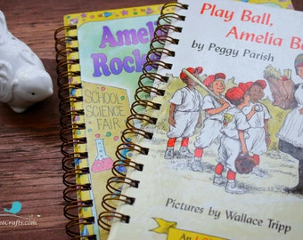 Amelia Bedelia, Custom Journal , classic book,  notebook, notepad, journaling, stationary, blank pages, upcycled, repurposed book