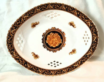 Vintage Limoges BACCHUS Oval Serving Plate