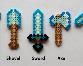 Minecraft Inspired Tools Cupcake Toppers Set