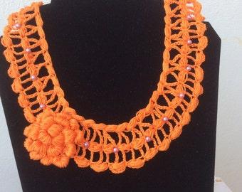 Collar Crochet And Beads
