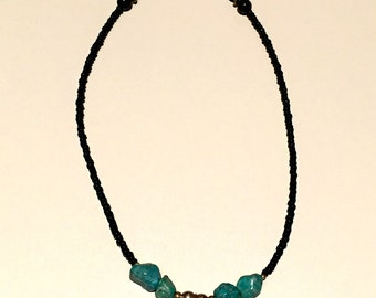 Simple turquoise and red coral necklace