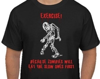 Zombie Graphic Screen Printed T-Shirt